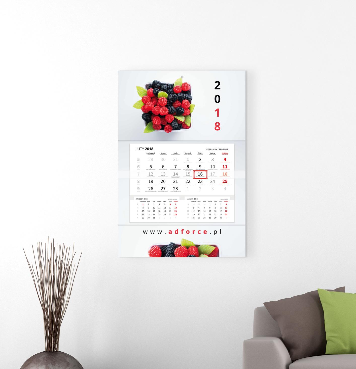 CH-JPP - Kalendarz główka płaska, Premium (480x318mm) - 6