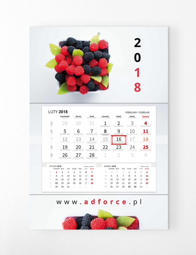 CH-JPP - Kalendarz główka płaska, Premium (480x318mm) - 2