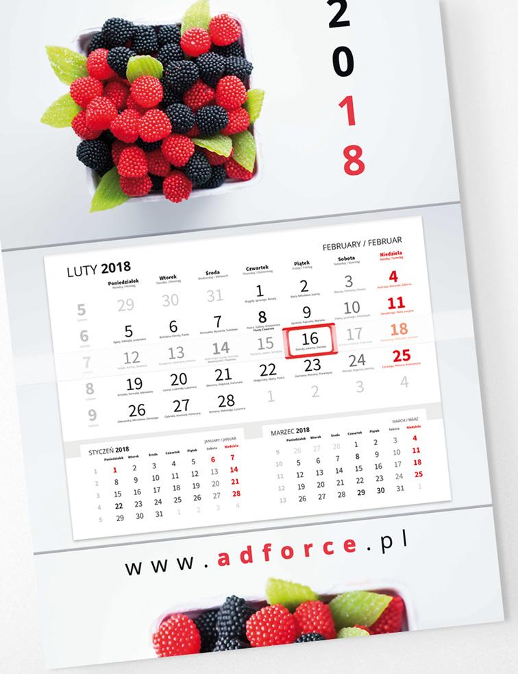 CH-JPP - Kalendarz główka płaska, Premium (480x318mm) - 3