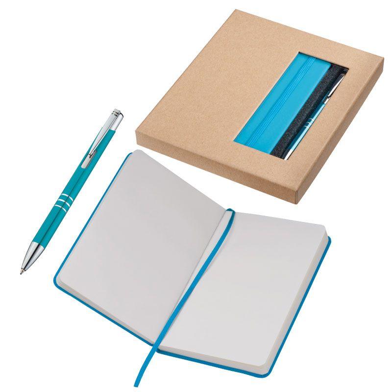 EG287514 - Zestaw: Notes A6 z długopisem w pudełku - Hamburg - 1