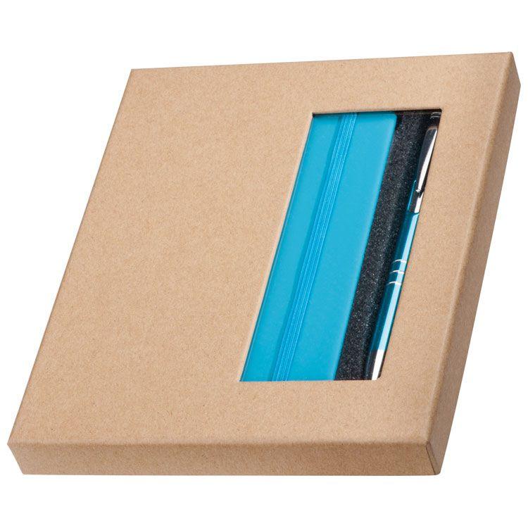 EG287514 - Zestaw: Notes A6 z długopisem w pudełku - Hamburg - 2