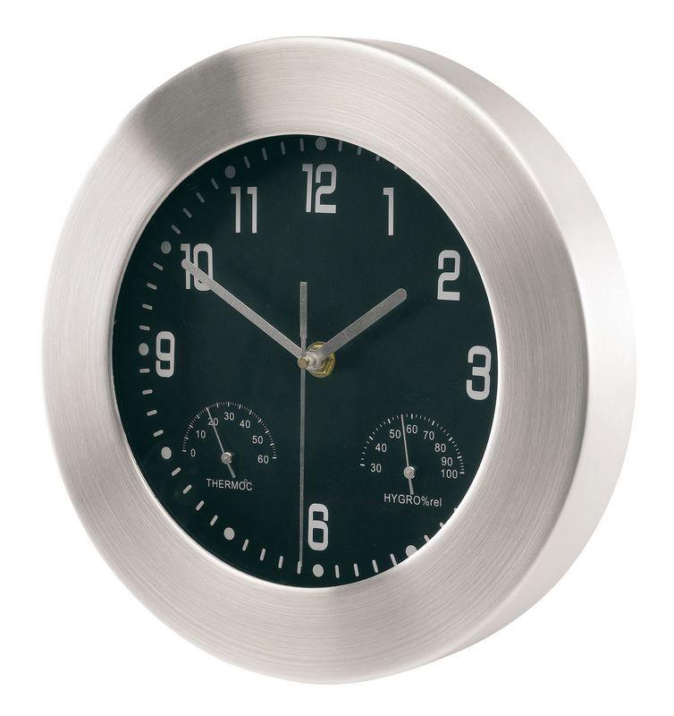 56-0401220 - Zegar ścienny+hydrometr+termom.,okrągły - 1