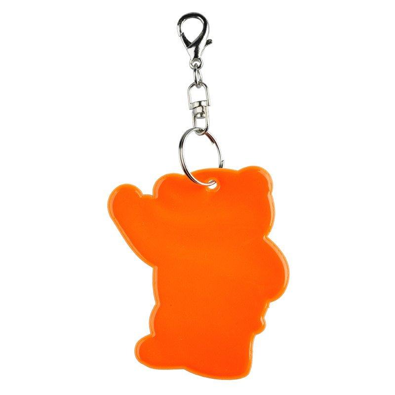 R73245.15 - Brelok odblaskowy – Miś, pomarańczowy - 4